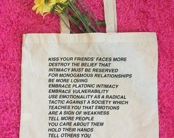 Platonic Intimacy tote