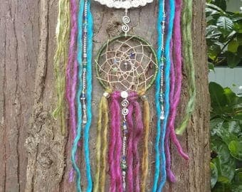 Colorful Tree of Life Dream Catcher/Featherless/Silver/Fiber Optic/Swarovski/Wall Hanging