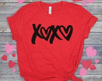 XOXO Shirt   Hugs And Kisses   Valentines Shirt Women   Valentine Tee Shirts    In