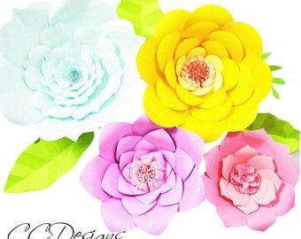 giant paper flower templates diy printable flower templates diy paper flowers easy giant