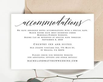 wedding invite inserts templates