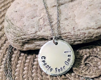 Charm necklace, silver necklace, Charm, Handstamped Necklace, Handstamped jewelry, Daughter Necklace, Handstamped Charms, Free Shipping