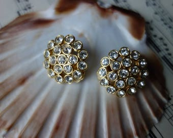 Christmas decorations of the sparkling-retro earrings, Vintageschmuck of grandma, noble and chic, gold colors with stasis, chic of the 70-er years-