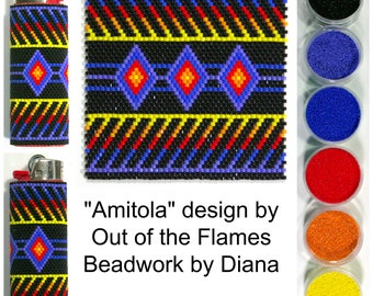 Amitola by Out of the Flames beaded LIGHTER kit (pattern sold separately)