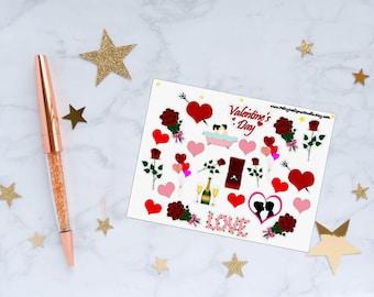Valentine's Day Planner Stickers, Valentine Stickers, Love Stickers, Heart Stickers, Vinyl Stickers