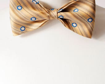 Pale Gold Colour Pure Silk Bow Tie, Bow Ties, Mens Bowties, Wedding bow tie, bow tie for men, Christmas Gift, mens tie