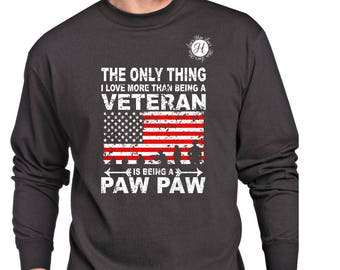 The only thing i love more than being a Veteran is being Paw Paw    SVG dfx Cut file  Cricut explore file t shirt decal Army  military