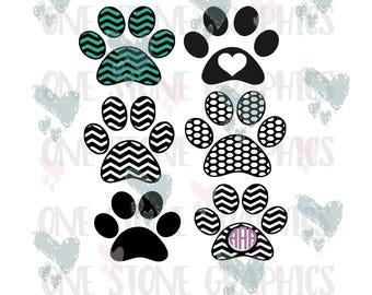 Paw print svg file,cut file,svg,svgs,chevron paw print cut file,monogram paw print, dog lover cut file,cut files,cricut, die cuts, Paw print