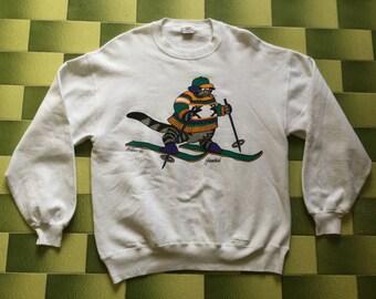 Vintage Kliban crazy shirts hawaii skiing sweatshirt