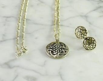 Celtic Design Necklace / Earrings in Sterling