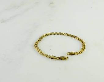 Gilt over Sterling Milor Italy 925 Bracelet 7 3/8""
