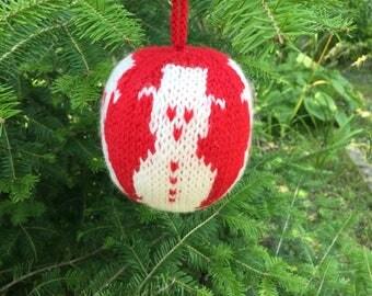 Snowman - Christmas Ornament - Hand Knit
