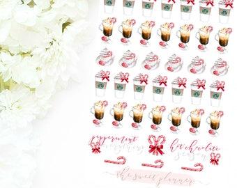 PEPPERMINT DRINKS | Peppermint Mocha Deco Sticker Sheet