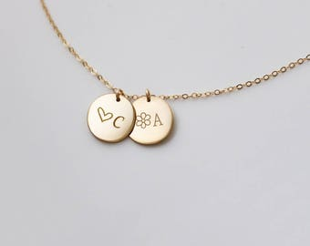 Family Name Necklace, Family Initial, Family Tree, Kids Name Necklace, Gift for Mom,  NDV13M0