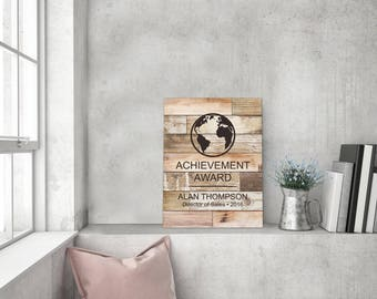 Personalized Natural Faux Wood Barn Board Sign