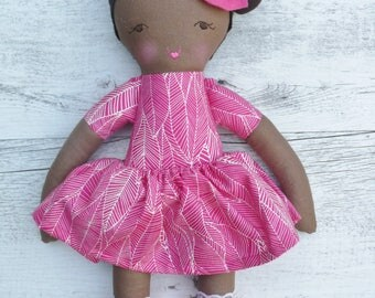 "Jade - Handmade rag doll, 38cm (15""), fabric doll, cloth doll, gifts for girls."