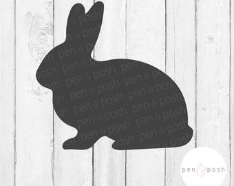 Rabbit SVG - Bunny SVG - Easter Bunny SVG - Rabbit Silhouette - Rabbit Clipart - Bunny Dxf - Rabbit Dxf - Easter Bunny