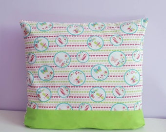 Personalized name butterflies and flowers Cushion cover.