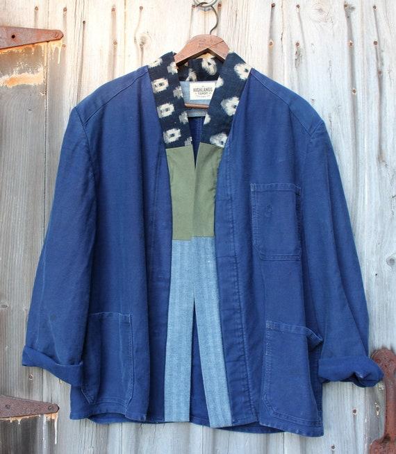 French Workwear Kimono Jacket