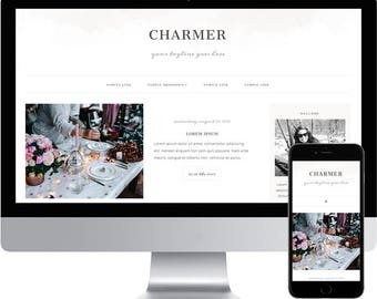 Blogger Template - Responsive Blogger Template - Watercolor Blogger template - Feminine Blog Design - Blogspot Template - Blogger theme