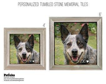 Pet Memorial Stone Framed Tile, Personalized Pet Memorial, Pet Memorial Gifts, Pet Loss Gifts, Pet Photo Tile, Custom Pet Memorial