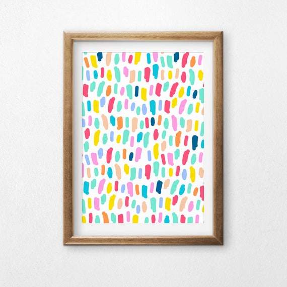 Printable Art, Colorful Lines, Pattern, Modern Art, Minimalist Art, Art Printable, Home Decor, Digital Download Print