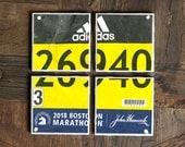 Marathon / Coasters / Runner Gift / Marathon Coasters / Race Bib / Marathon Gift / Half Marathon / Boston Marathon / Running / Run / 5K Gift