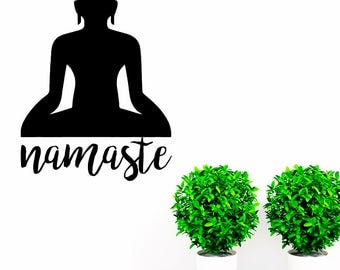 rta 54 Buddha Buddhism Yoga India Religions Karma Asans God Namaste Mantra Wall Decal Vinyl  Decor Sticker Bedroom Office