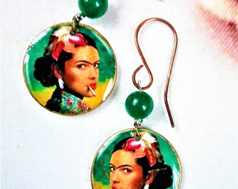 Green Frida earrings
