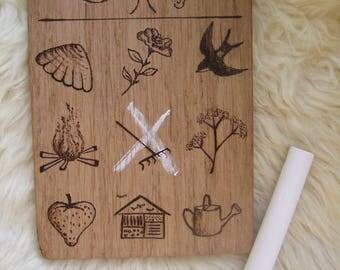 Wooden Nature Scavenger hunt - Summer