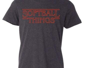 Softball Stranger Things Shirt