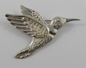 Sterling Silver Mexican Hummingbird Brooch