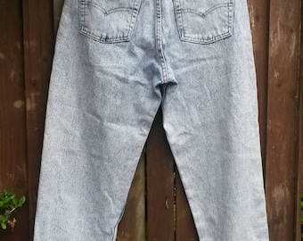 Levi's Levis 550 vintage 80s acid stone washed high rise waisted jeans W31 L32