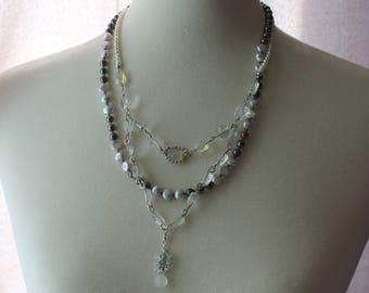 Pineapple Quartz and Pearls