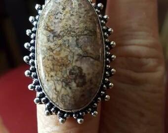 Jasper Gemstone Ring - size 7!