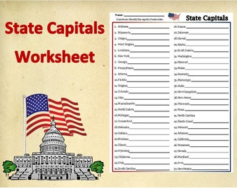 Solving Exponential And Logarithmic Equations Worksheet Excel Worksheet  Etsy Will Planning Worksheet with Worksheet Balancing Chemical Equations Printable Us State Capitals Worksheettestpractice Testsocial Studies  Homeworkdigital Ccss Worksheets Excel