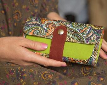 Women's Wallet, Vegan Wallet, Wallet For Women, Vegan Gift, Womens Clutch, Fabric Wallet, Women' Gift, Unique Wallet, Gift For Women, Gift