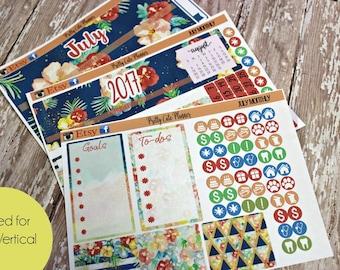 Planner Stickers - Fits Erin Condren July Monthly - July Stickers - July Planner stickers - Monthly Planner stickers - Monthly View