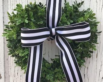 Boxwood Heart Wreath