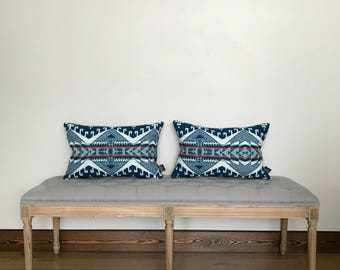 Pendleton Wool Pillow Cover, Trailhead in Turquoise, Pendleton wool pillow, throw pillow, home dec, boho home