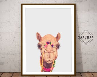 Camel wall art, Camel picture, Camel poster, Camel photography, Camel wall decor, Peekaboo print, Camel art print, Camel printable, Nursery