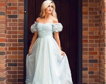 Vintage Baby Blue Cinderella Gown