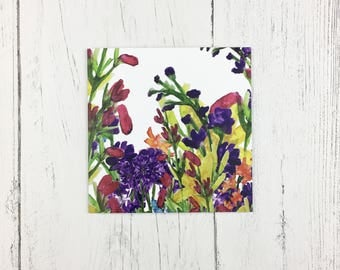 Floral Greetings Card For Mothers Day / Birthday Card / Floral Invitation Card / Thank You Note / Card For Friend / Card For Mum