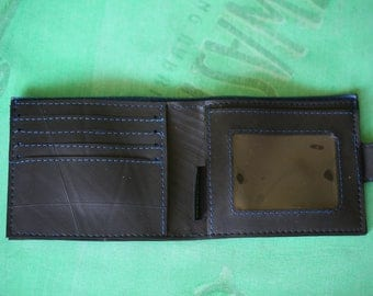 Inner Tube 4 card & photo wallet with clasp, Vegan Wallet, Upcycled Wallet, Fair Trade Wallet,