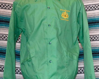 Vintage House of Seagram Southern Region Windbreaker Aristico Jac by Hilton Jacket Coat Green