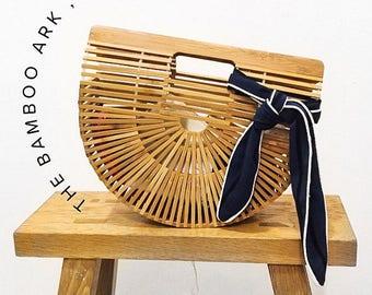 Ready to Ship!! Bamboo Wicker Summer Ark Bag Clutch Bag Clutch Handbags  Beach Bag Summer Bag Clutch Purse Wicker Clutch Straw Bag