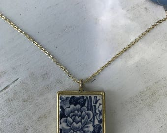 Vintage Broken China Necklace