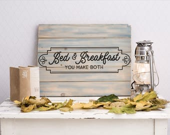 Bed & Breakfast Sign SVG