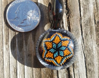 Orange/Blue Star implosion pendant