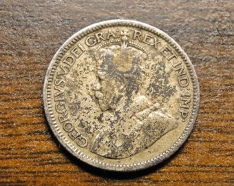 1918 Canada 10 Ten Cents - Nice Old Coin!  #677